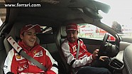 Alonso and Massa in the 458 Italia