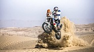 Francisco Chaleco Lopez stunts through a South American desert