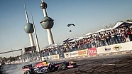 F1 Car live & loud on the streets of Kuwait City.