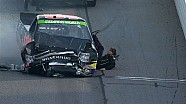 Bryan Silas Falls Out of Truck - Martinsville - 2014 NASCAR Camping World Truck Series