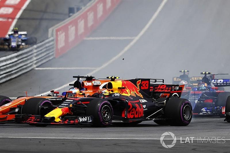 Verstappen sufrió de un problema de embrague en el arranque