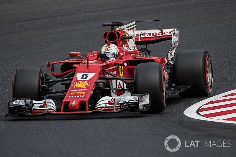 Vettel, Japonya GP'sinin henüz ilk turlarında yarış dışı kaldı!