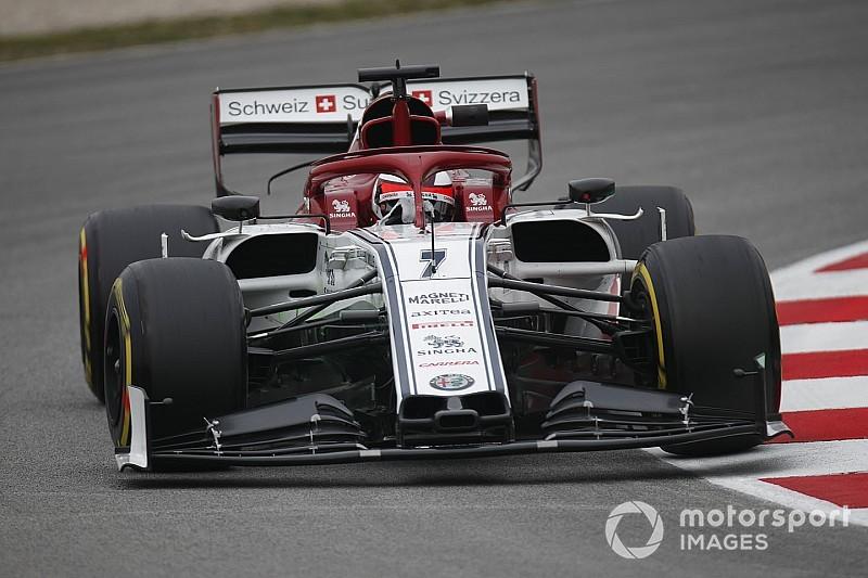 Raikkonen doorbreekt Ferrari-hegemonie op ochtend derde testdag, vijfde tijd Verstappen