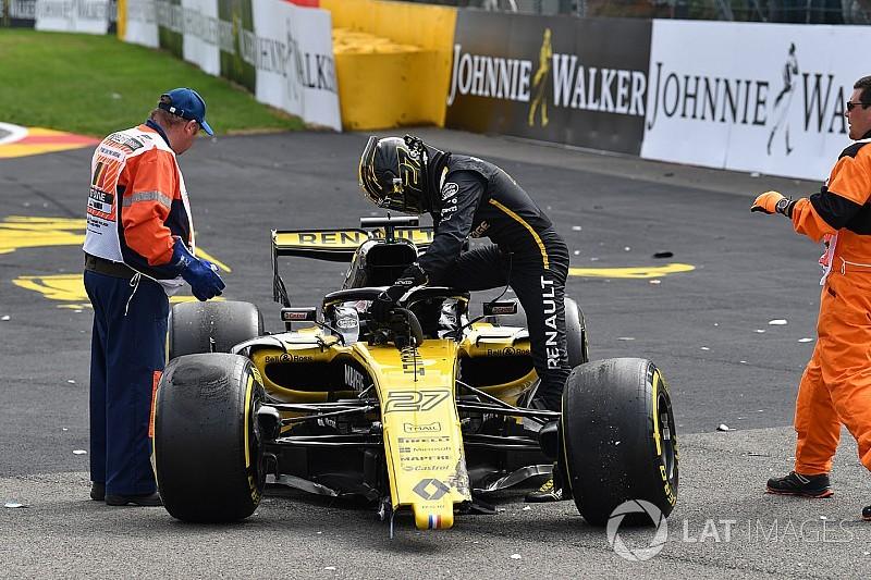 Hulkenberg recibe 10 puestos de castigo por su accidente en Bélgica