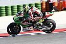 Espargaro jajal fairing Aprilia bergaya ala Ducati