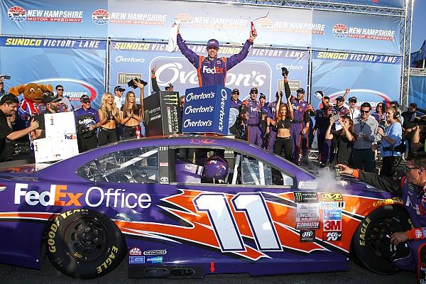 NASCAR Cup NASCAR in Loudon: Denny Hamlin holt 1. Sieg 2017 für Joe Gibbs Racing