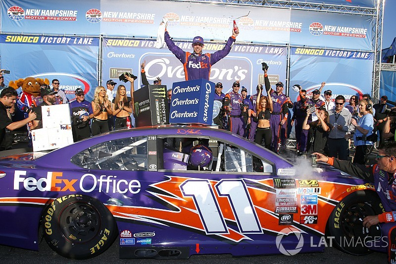 Denny Hamlin scores first win of 2017 at New Hampshire