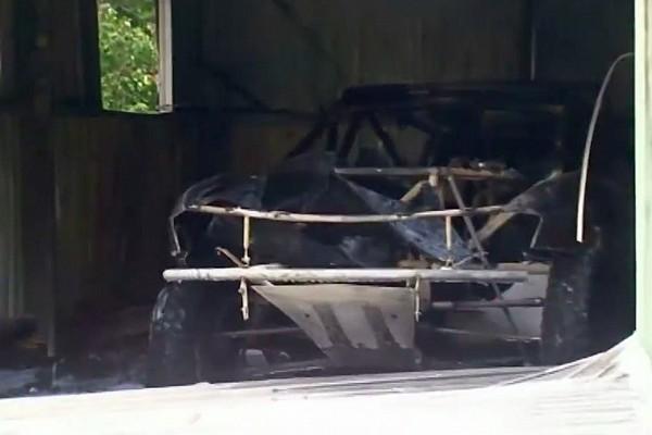 Dakar Peter Brock's Dakar car destroyed in fire