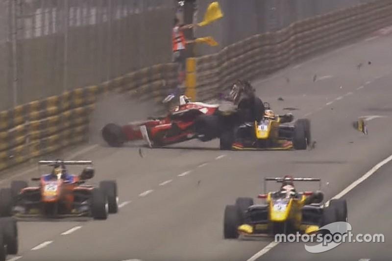 La FIA muestra el accidente de Macao para defender el Halo ante los pilotos