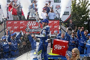 NASCAR Cup Race report Jimmie Johnson snatches victory from Larson in chaotic Dover finish