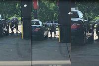 Egy texasi férfi megnézte, milyen lehet benzinnel autót mosni