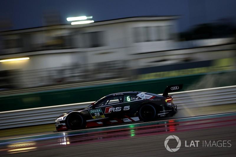 Misano DTM: Duval scores maiden pole in wet qualifying