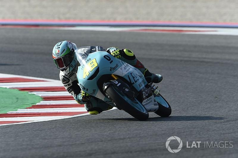 Dalla Porta logra su primera victoria y Rodrigo es cuarto en Moto3
