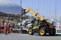 Видео: закончившаяся пожаром авария Формулы 2 в Сочи