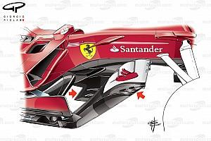 Формула 1 Самое интересное Технический анализ: эволюция Ferrari SF70H по ходу сезона-2017
