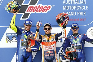 Australian MotoGP: Marquez edges clear of frantic battle for victory