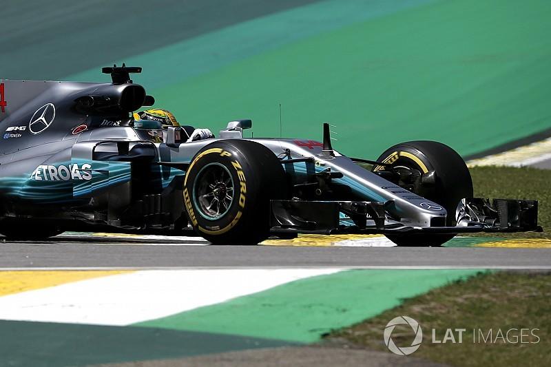 F1ブラジルGP FP1速報:王者ハミルトンがトップ。ボッタスが続く