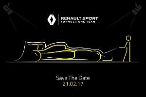Renault'nun 2017 F1 aracı bugün tanıtılıyor
