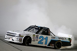 NASCAR Truck Race report Johnny Sauter takes Chicagoland Truck win as playoff grid is set