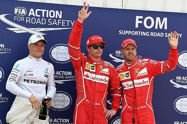 F1 Reporte de calificación Pole para Raikkonen 9 años después; drama para Hamilton