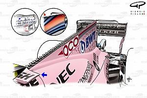 Formule 1 Diaporama Bilan technique - Les évolutions de la Force India VJM10