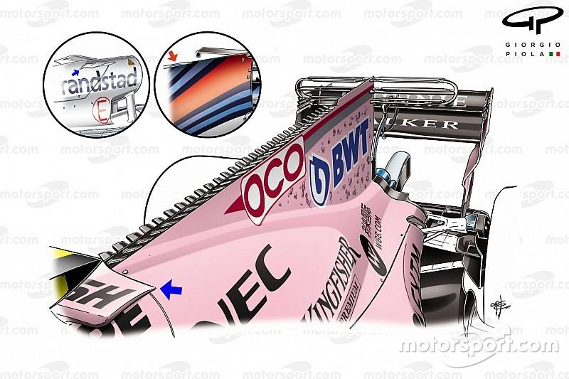 Техногалерея Ф1: як Force India VJM10 еволюціонував протягом 2017 року