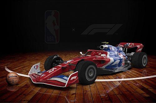 Begini Penampilan Mobil-mobil F1 dengan Livery Tim NBA