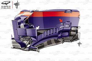 Toro Rosso: modifiche al bargeboard e ai deviatori di flusso