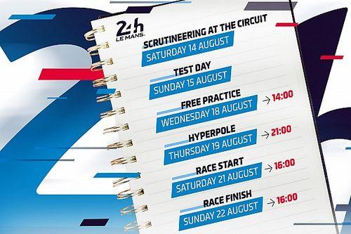 24h di Le Mans: ecco il programma, partenza alle ore 16;00
