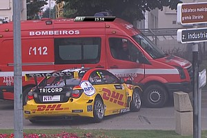 WTCC Новость Коронель врезался в пожарную машину на тренировке WTCC