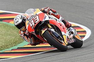 MotoGP Practice report Sachsenring MotoGP: Marquez leads crash-filled FP3