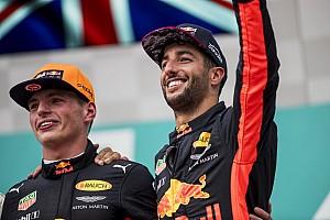 Formule 1 Nieuws Horner prijst wederzijds respect tussen Verstappen en Ricciardo