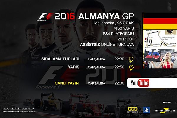 SİMÜLASYON DÜNYASI Son dakika F1 2016 online turnuva: Almanya GP - Canlı Yayın