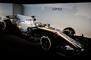 Na Inglaterra, Force India mostra pintura de carro de 2017