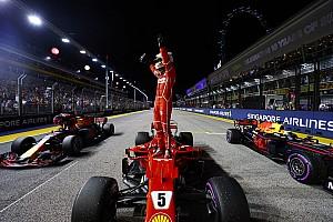 Fórmula 1 Crónica de Clasificación Vettel saldrá desde la pole y Hamilton lo hará quinto en Singapur