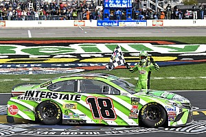 NASCAR Cup Race report Kyle Busch holds off Harvick for his first win of 2018 season