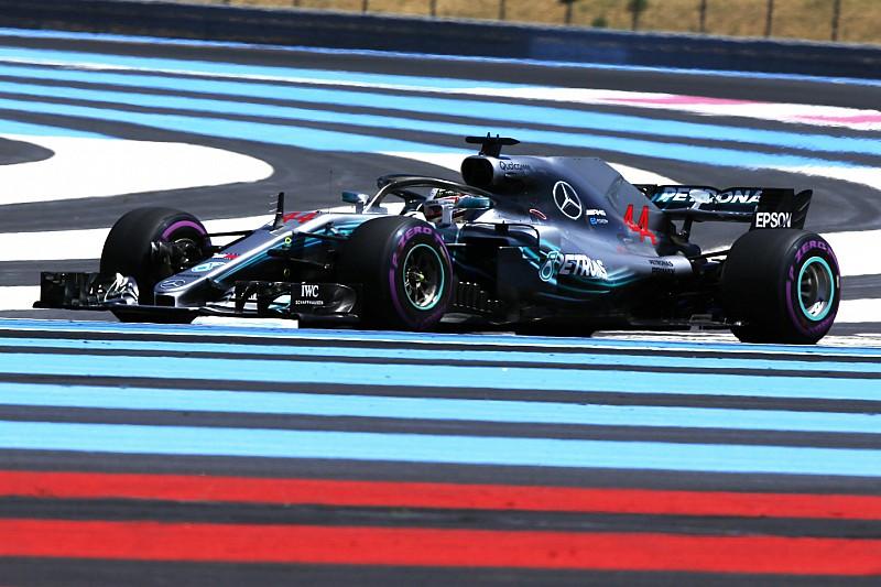 Hamilton lidera un 1-2 de Mercedes en el arranque del GP de Francia
