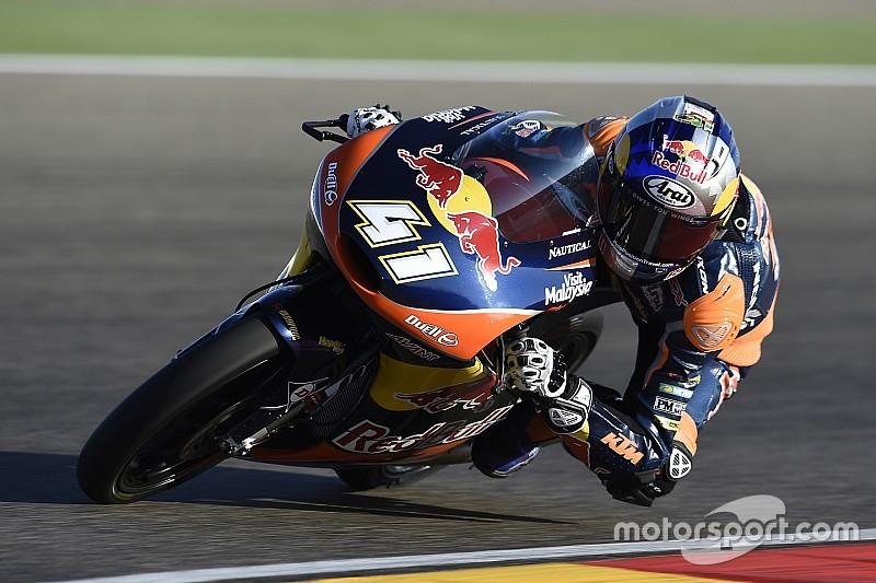 Moto3マレーシアFP1:Bビンダーがトップタイム発進。佐々木は22番手
