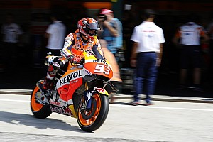 MotoGP Practice report Misano MotoGP: Marquez goes quickest, crashes in warm-up