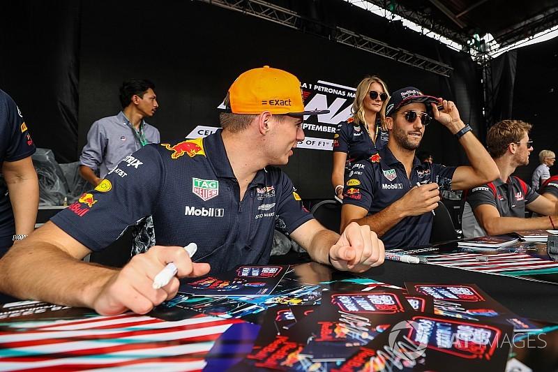 Ricciardo lebuktatta Verstappent