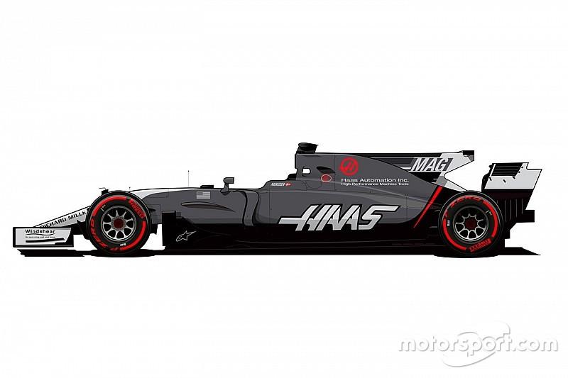Haas muda pintura para melhor visibilidade de números