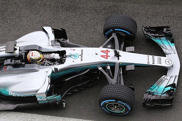 Video: Lewis Hamilton beim Shakedown des Mercedes W08 in Silverstone