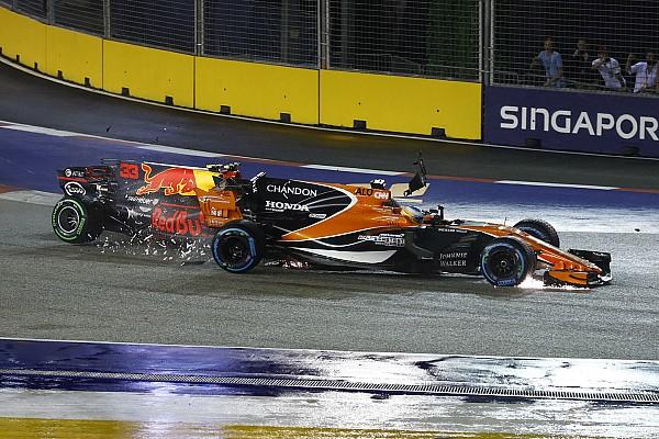 فورمولا 1 هوندا تخوّفت من تضرر محرّك ألونسو خلال حادثه في سنغافورة