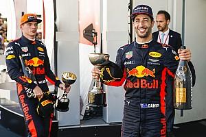 Formule 1 Actualités Red Bull veut Ricciardo et Verstappen jusqu'en 2020
