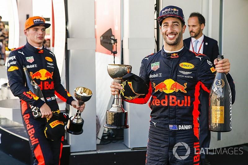 Red Bull quer renovar com Verstappen e Ricciardo até 2020