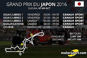 Formule 1 Preview Le programme TV du GP du Japon