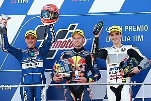 Moto3 Son dakika Moto3 İtalya: Yarışın ikincisi Di Giannantonio'ya şampanya engeli