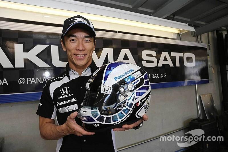 佐藤琢磨、今週開催インディGPで特別ヘルメット使用「最高の走りを」