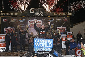 NASCAR Truck Race report Sauter survives carnage and wins wild Truck race at Phoenix