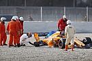GALERI: Kecelakaan roda terlepas Alonso di Barcelona